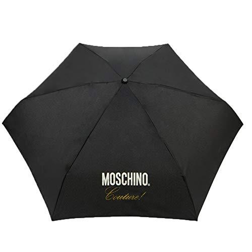 Regenschirm Moschino Supermini Couture schwarz gold