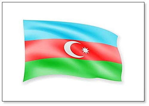 Kühlschrankmagnet, Motiv Flagge von Aserbaidschan