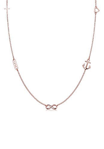 Elli Halskette Kreuz Herz Infinity Anker Stern Symbole 925 Silber