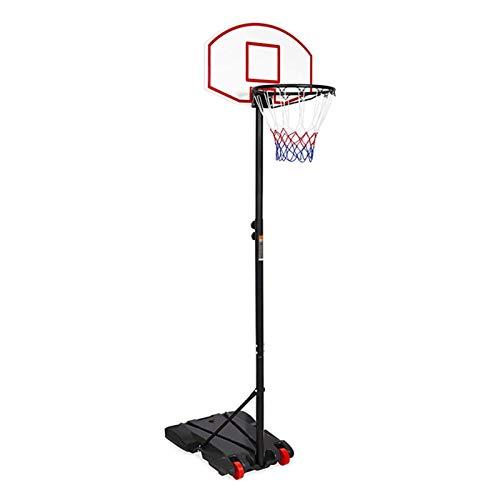 Canasta de baloncesto interior exterior deportes Baloncesto del soporte del, mejorada con altura ajustable (160-215 cm) del sistema de red del aro con ruedas for niños adolescentes cubierta Práctica