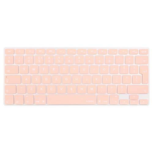 MOSISO EU/UK Tastaturschutz Kompatibel mit MacBook Pro 13/15 Zoll (mit/ohne Retina Display, 2015 oder älter Version), älter MacBook Air 13 Zoll (A1466 / A1369, Release 2010-2017), Rosenquarz