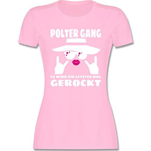 JGA Junggesellenabschied Frauen - Polter Gang Frauen - Fuchsia/weiß - L - Rosa - t-Shirts junggesellenabschied - L191 - Tailliertes Tshirt für Damen und Frauen T-Shirt