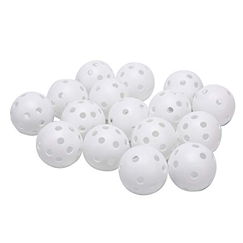 MZY1188 20 Piezas de Bolas de Entrenamiento de Golf de 41 mm, Flujo de Aire de plástico Hueco con Bolas de Golf con Agujero Bolas de práctica de Golf al Aire Libre