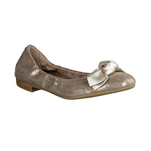 Donna Carolina 37.170.020 Metal ORO/Ginger Platino (beige) - Ballerina - Damenschuhe Pumps/Ballerina, Beige, Leder