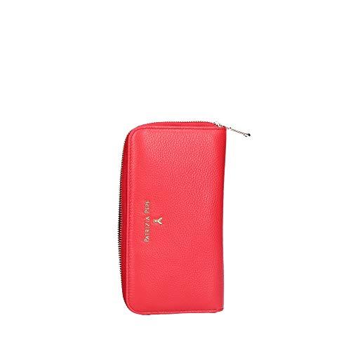 PATRIZIA PEPE Portafoglio Zip Around in Pelle Rosso