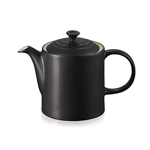 Le Creuset Klassische Teekanne, Rund, 1,3 Liter, Steinzeug, Schwarz