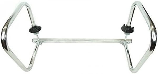 Service Bar Rail Double Arm 1 OD Nickel Chrome Plated