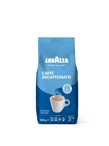 Lavazza Decaffeinated, 100% Arabica Medium Roast Coffee Beans, 500g Pack