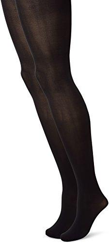Camano Damen 8204 Strumpfhose, Schwarz (Black 0005), 38/39 (Herstellergröße: 38/40) (2er Pack)