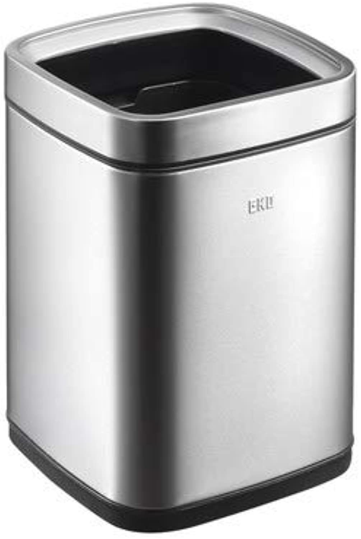 XJRHB Mülleimer Edelstahl Mülleimer nach Hause ohne Abdeckung Wohnzimmer Badezimmer Europäische minimalistische Küche groß (größe   12L) B07PRMW3F1 | Deutschland Outlet