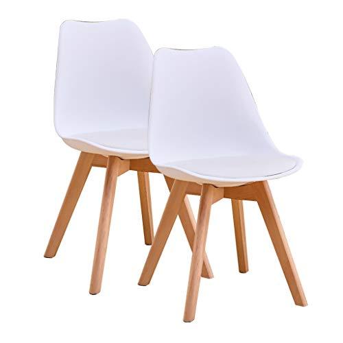 SLY Kitchen Chair, Vrije Tijd Onderhandelen Computer Planken Benen For Dining Room Hotel Nordic Dining Chair (Color : White)