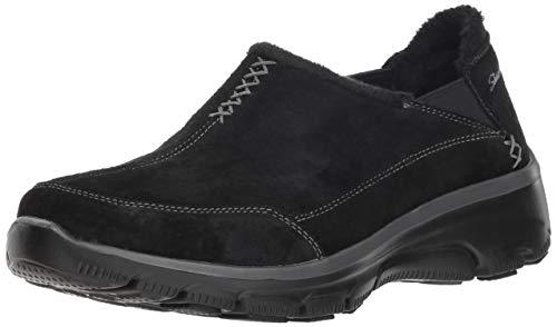 Skechers Easy Going – Hive – Twin Gore Shootie with Faux Fur Trim Chaussures Basses pour Femme - Noir - Noir, 37 EU