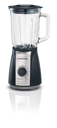 Morphy Richards 403010 Jug Blender with Ice Crusher Blades Inspire Kitchen Confidence, Plastic, 600 W, 1.5 liters, Grey
