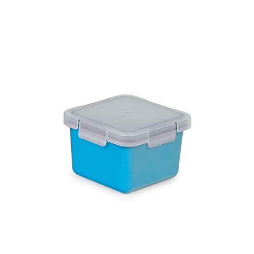 Valira Porta alimentos - Contenedor hermético de 0,4 L hecho en España, color azul