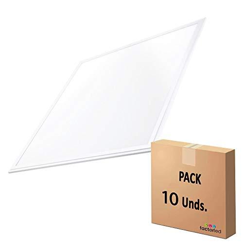 Pack x10 Panel LED Slim 60x60cm 48W, OSRAM Premium Line, NO FLICK, 5280 lúmenes, Luz Blanca 6000K, Drivers Incluidos