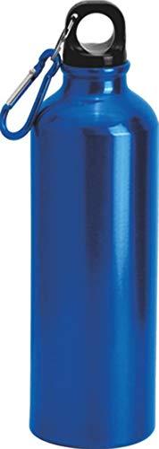 Borraccia 750 ml in alluminio con moschettone mantiene la temperatura per 12 ore, Borracce per Scuola, Sport, All'aperto, Palestra, Yoga (Blu)
