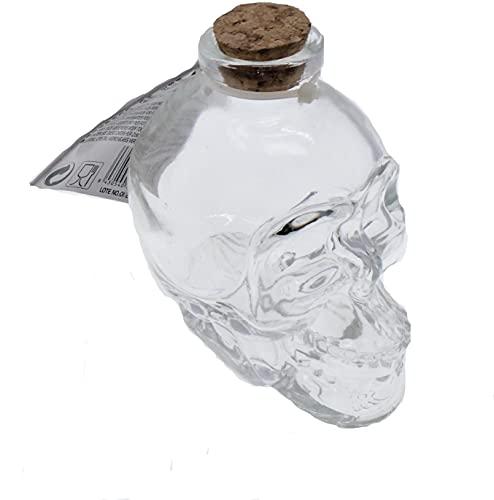 Paquete doble de mini decantador de calavera, botellas de calavera, accesorios para beber, botella de 180 ml,