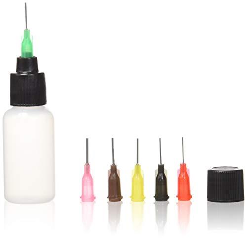 Applicator Bottle for Henna, Jagua, Paint and More +6 Lock on Detailing Tips! (20ml Reusable...