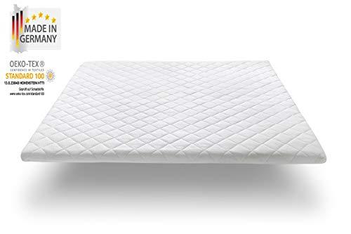 Nova Sleep Topper 80x200 cm Viscoschaumtopper H2, Premium Höhe 7 cm, RG 50 weich, 300 Gramm Anti Allergische Watte