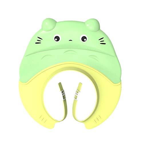 Shampooing Cap Baby Shower Cap Étanche Protecteur d'oreille Enfant Réglable Bébé Enfant Bonnet De Douche (Couleur : Green)