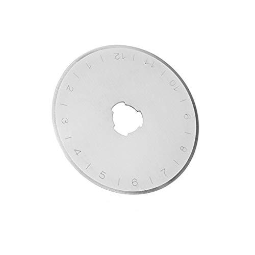 ULTNICE 10 unids Cuchillas de Corte Circular 45 mm Cuchillas de Repuesto de Corte rotatorio con Estuche de Almacenamiento para Coser Papel de Cuero de Tela