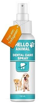 Nouveau : HelloAnimal® - Spray Dentaire pour Chiens et Chats – détartrage Entre Les Dents – Soin Dentaire/Nettoyage des Dents, Contre Mauvaise haleine, Anti-Plaque et tartre, Contient 100 ML