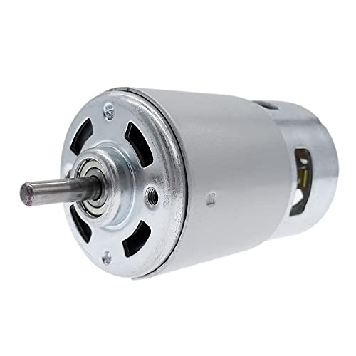 LONGWDS Motor pequeño RS 775 Motor DC 12V 24V Cojinete de Bola Doble 3000RPM4500RPM6000RPM8500RPM10000RPM RS775 Torque Grande Bajo Ruido (Speed(RPM) : 4500rpm, Voltage(V) : 24V)