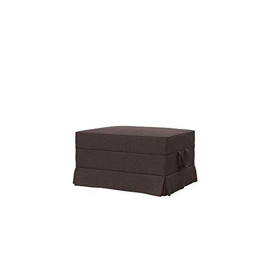 Soferia Bezug fur IKEA EKTORP Hocker, Stoff Elegance Brown