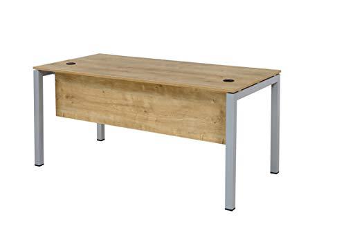 Furni24 Schreibtisch Tetra 160 cm Eiche Homeoffice Seminartisch Computertisch einfache Montage