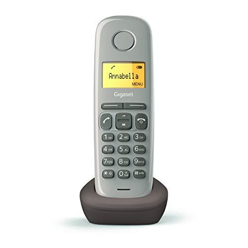 Oferta de Gigaset A170 - Teléfono Inalámbrico, Pantalla Iluminada, Agenda de 50 Contactos, Color Chocolate