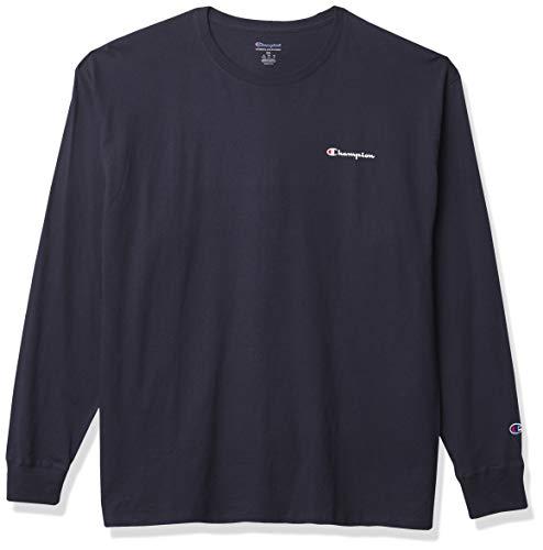 Champion Classic tee Camiseta, Azul Marino – Left Chest Script, S para Hombre