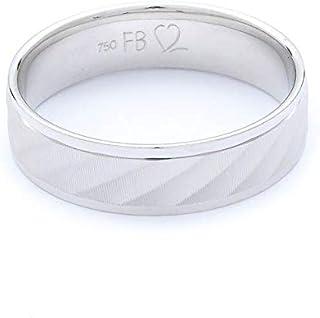 Breuning 18K White Gold Shiny & Matte Finish Wedding Ring [BR7092]