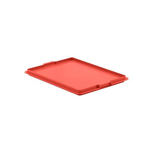 SSI Schäfer Deckel Verschlussdeckel EF-D 43 passend für Kästen im EURO-MAß, Rot