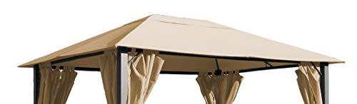 QUICK STAR Ersatzdach für Pavillon Paris 3x4m Pavillondach Sand