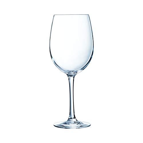 Chef&Sommelier - Lot de 6 Verres à Pied Cabernet Tulipe en Cristallin - Verres de Dégustation Sobres et Élégants - Résistance Hors Norme - Transparence Absolue - Verres à Vins et Cocktails de 47 cl