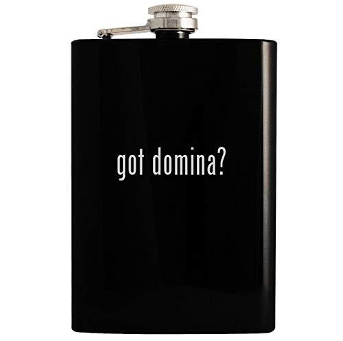 got domina? - Black 8oz Hip Drinking Alcohol Flask