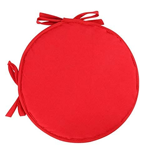 eewopjkj Set of 2 Round Dining Chair Cushions with Bows Universal Seat Cushions Cushions for Indoor and Outdoor Garden Kitchen Red 12 x 12 Inches (30 x 30 cm)