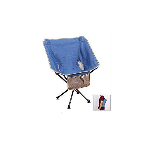 Bequeme Liegestuhl, Stuhl im Freien beweglichen Klappstuhl Rucksack Angel Ordner Moon Chair Sketch Faule Beach Camping-Stuhl-Auto-Spielraum Fahrrad Hocker Folding hfhdqp