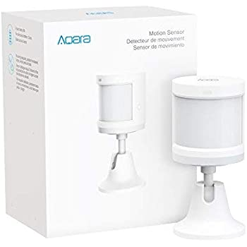 Aqara Motion Sensor, REQUIRES AQARA HUB, Zigbee Connection, for Alarm System and Smart Home Automation, Broad Detection Range, Compatible with Apple HomeKit, Alexa