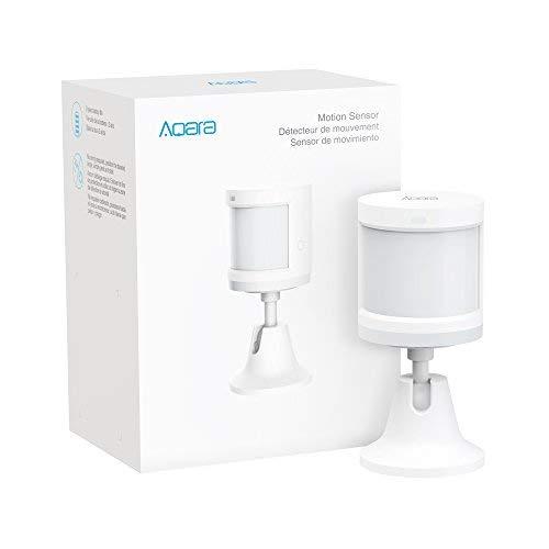 Aqara Motion Sensor, for Alarm System and Smart Home Automation, Broad Detection Range, Compatible with Apple HomeKit, Alexa, Requires Aqara Hub