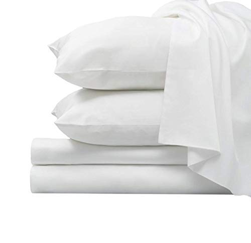 1000 Thread Count Luxury White Queen Sheets, Deep Pockets