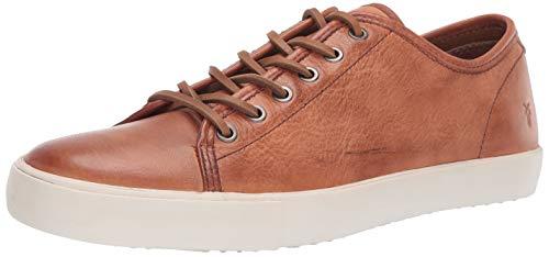 FRYE Men's Brett Low Sneaker, COGNAC, 9 M
