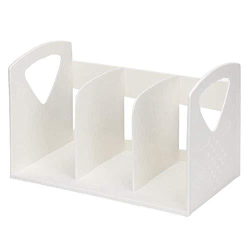 WWXL Skrivbordsfilorganisatör, tidningsställ, skrivbordsfilorganisatör, multifunktions kontorsfilställ flera lager vertikal bokställ ställ ställ ABS plast förvaringsställ fil förvaringsbox bokstöd