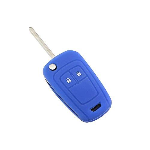NASHDZ Funda de Silicona para Llave remota de Coche de 2 Botones, Apta para Opel Astra J Corsa D Zafira C Mokka Insignia Cascada Karl Adam Meriva