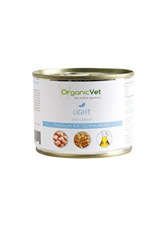 ORGANICVET Katze Nassfutter Veterinary Light, 6er Pack (6 x 200 g)