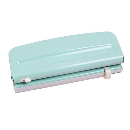 Craftelier - Perforadora Ajustable de 6 Agujeros Azul Turquesa Compatible con Distintos Tipos de Planners, Agendas o Cuadernos para Scrapbooking y Otras Manualidades