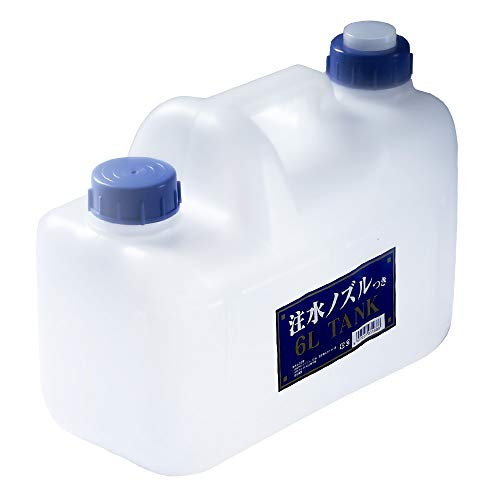 プラテック ノズル付 水缶 6L P-6