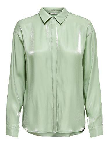 ONLY Female Hemd Glänzende 34Frosty Green