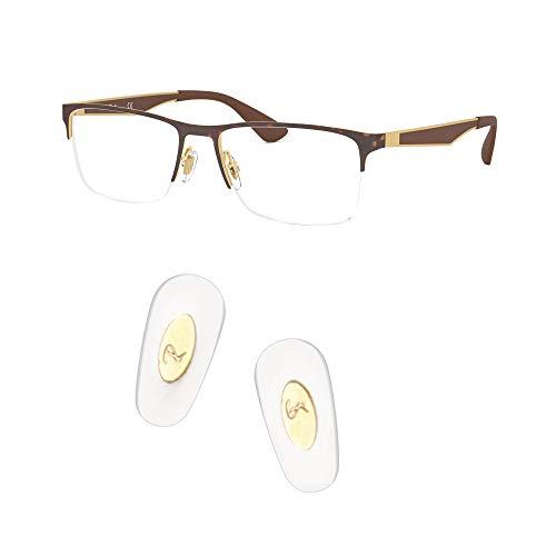 HiCycle2 ray ban 交換用ノーズパッドを押し込んで、レイバンRB6335サングラスレンズキット付きサングラス修理キットに適合 (ゴールド)