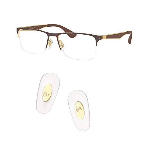 HEYDEFO Replacement Pushin Nose Pads for RayBan RB6335 Glasses Repair KitsBonus Lens Cloth Gold